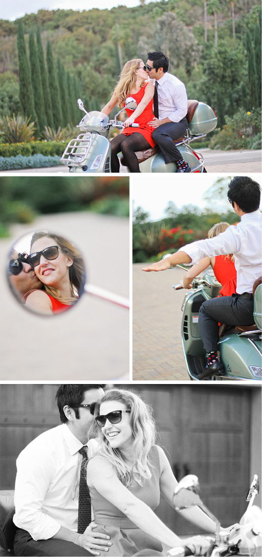 engagement photography vespa california